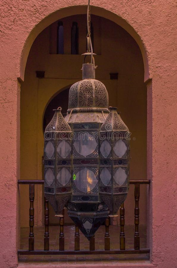 Tradition lampe. Morocco stock images