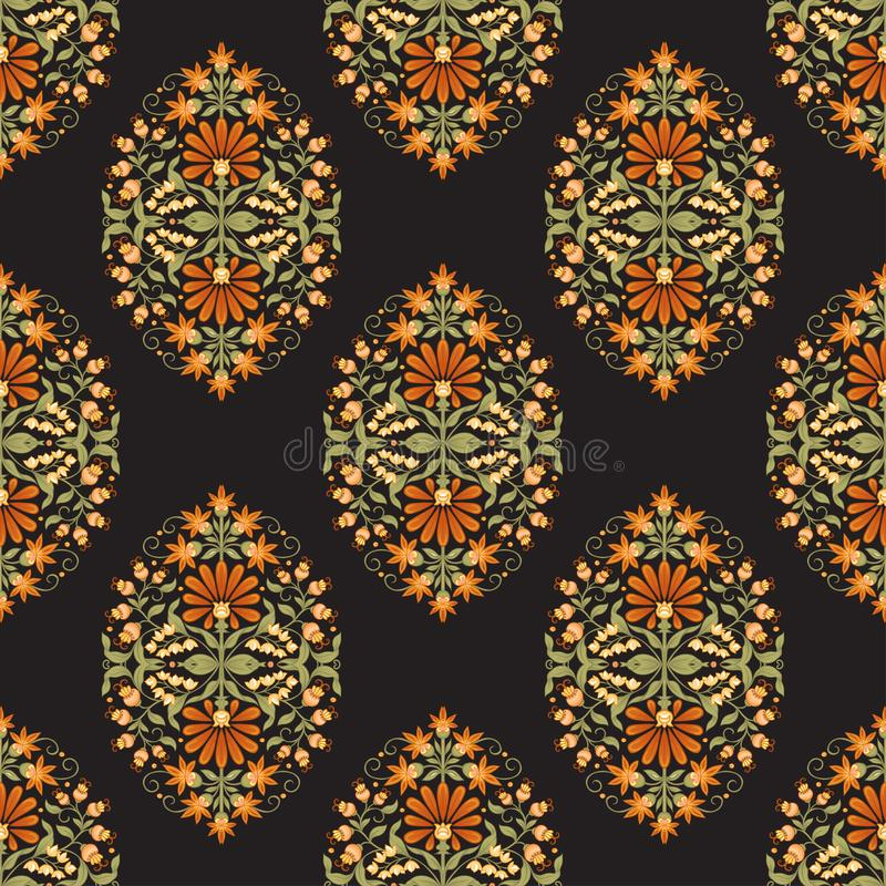 Free Tradition Mughal Motif, Fantasy Flowers. Stock Image - 164635571