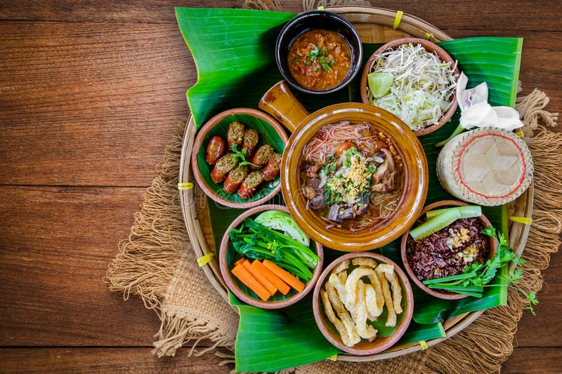 Tradition Northern Thai food. stock images