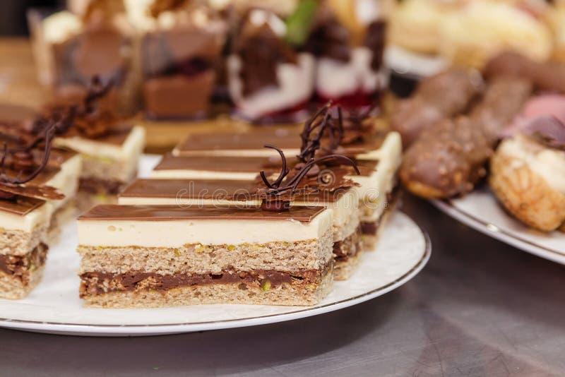 Tradition opera cake royalty free stock photos
