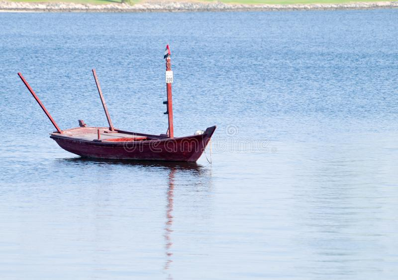 Boat ride around dubai creek stock photography