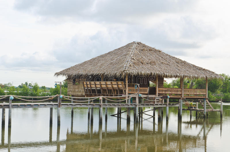 Download Tradition Thai hut stock image. Image of pool, bamboo - 31536657