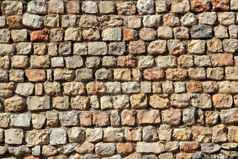 Traditiona de l'Espagne de mur en pierre de maçonnerie de Brown photo stock