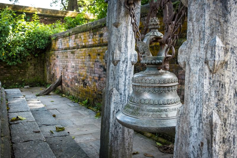 Traditionak hindu bell at Pashupatinath temple royalty free stock photo