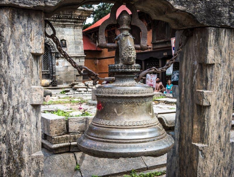 Traditionak hindu bell at Pashupatinath temple. In Kathmandu, Nepal stock images