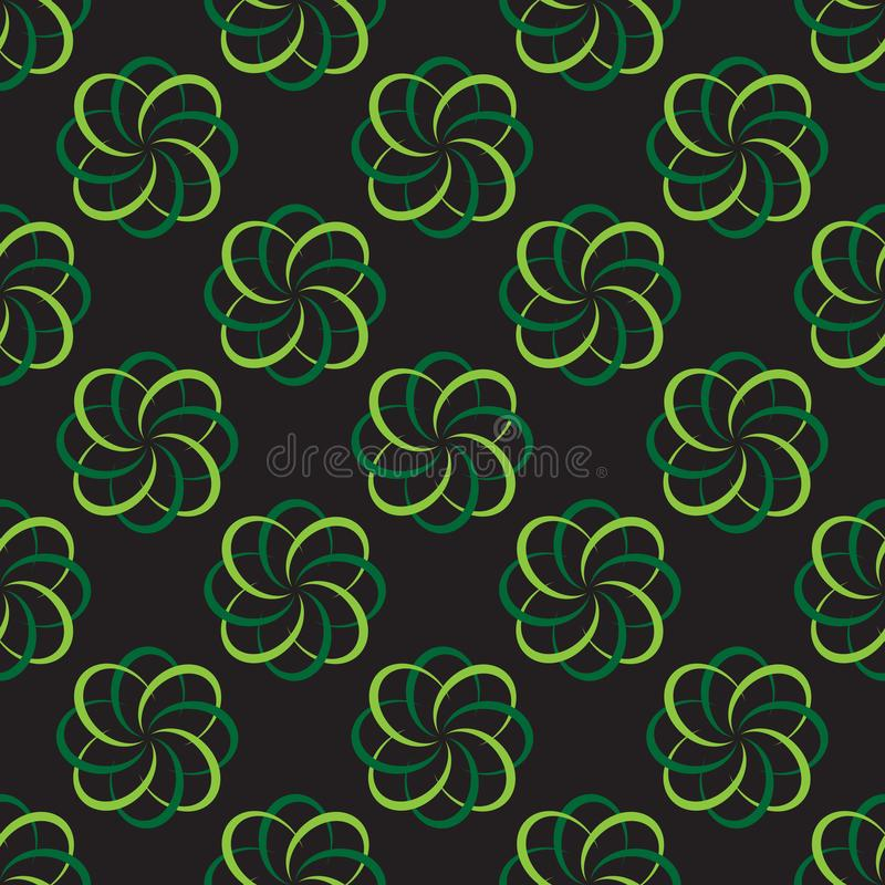 Traditional abstract floral seamless pattern background vector vector illustration