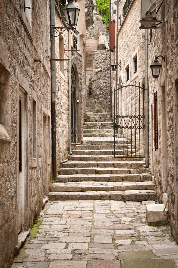 Traditional Adriatic house. In Montenegro royalty free stock photo