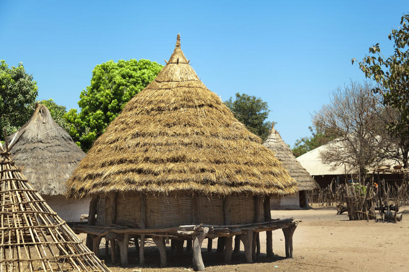 Traditional african house royalty free stock photos
