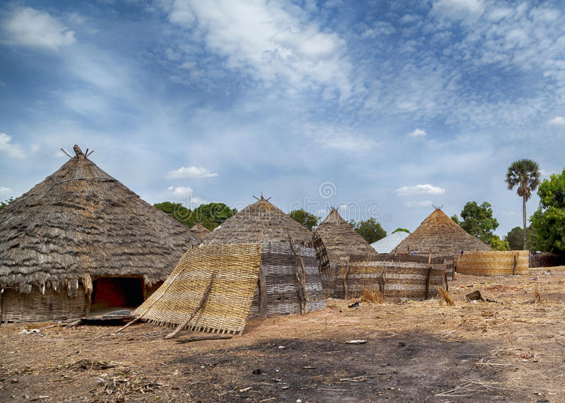 Traditional african house royalty free stock image