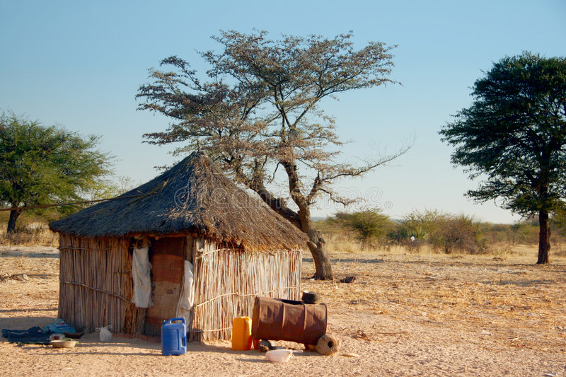 Traditional African Hut stock images