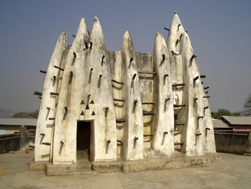 Traditional African mud-and-stick architecture stock photo