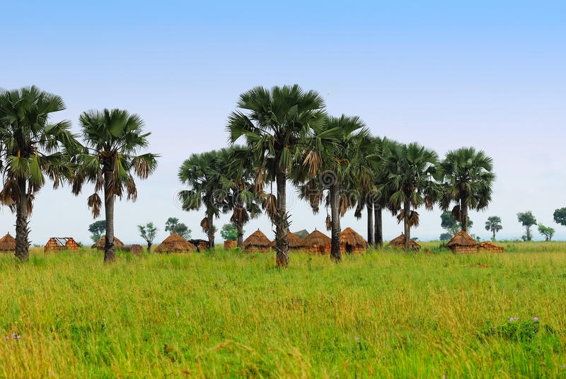 Traditional African village stock photos