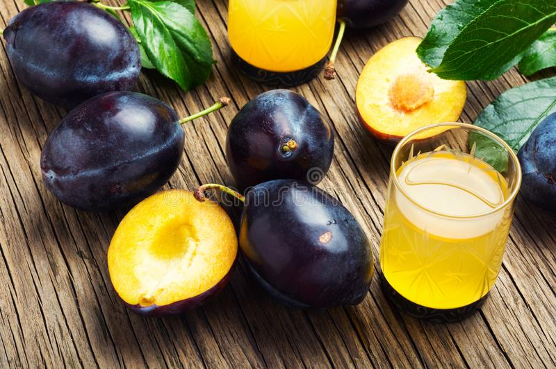 Plum alcoholic drink stock images