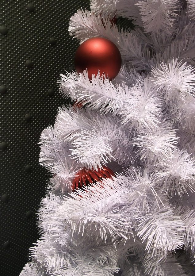 Traditional Aluminum Christmas Tree royalty free stock image