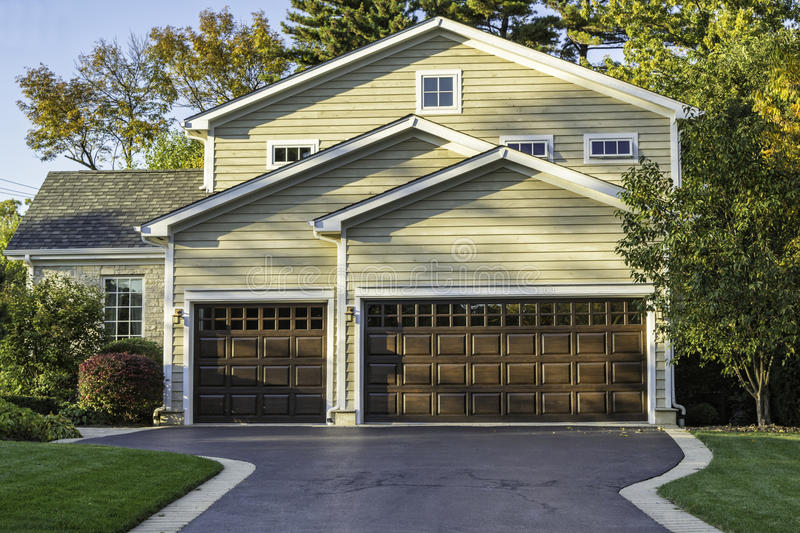 Download Traditional American Home stock photo. Image of garage - 31774822