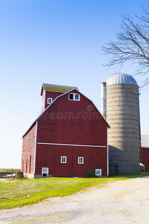 Traditional American Red Farm stock photos