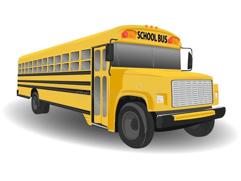 Traditional American School Bus. Illustration on White royalty free illustration