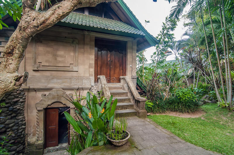 Download Traditional And Antique Balinese Style Villa Design Stock Photo