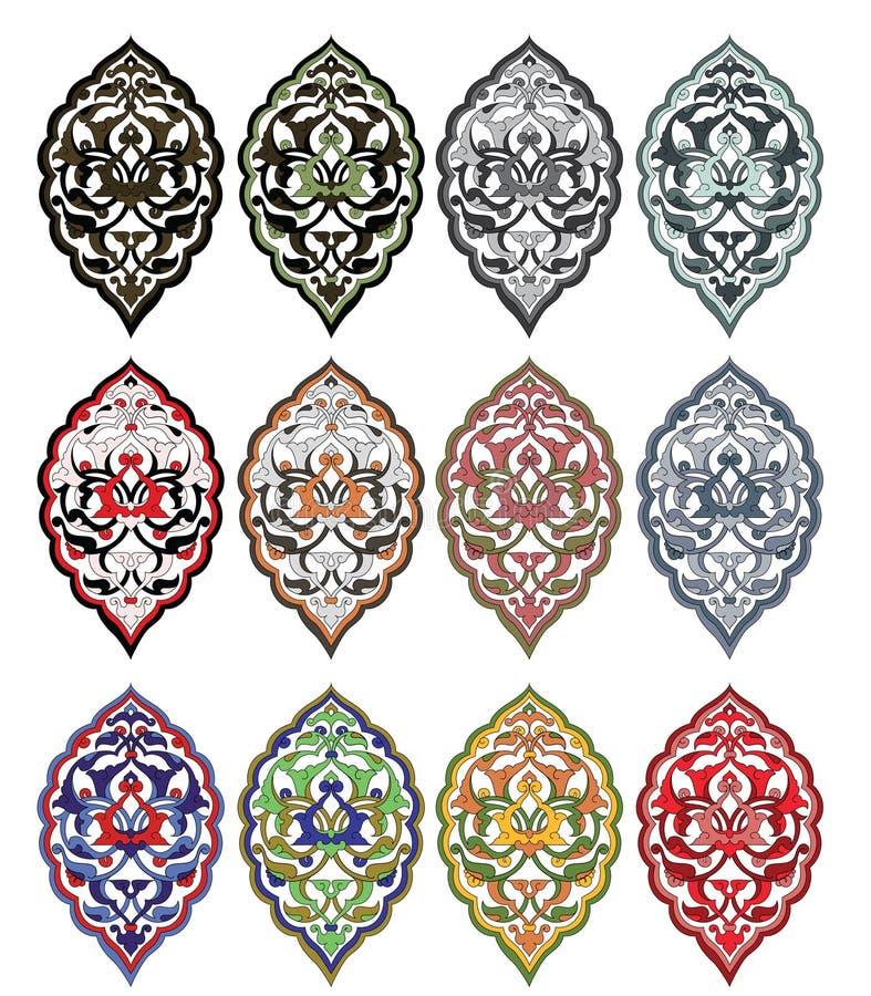 Traditional antique ottoman turkish tile illustrat stock illustration