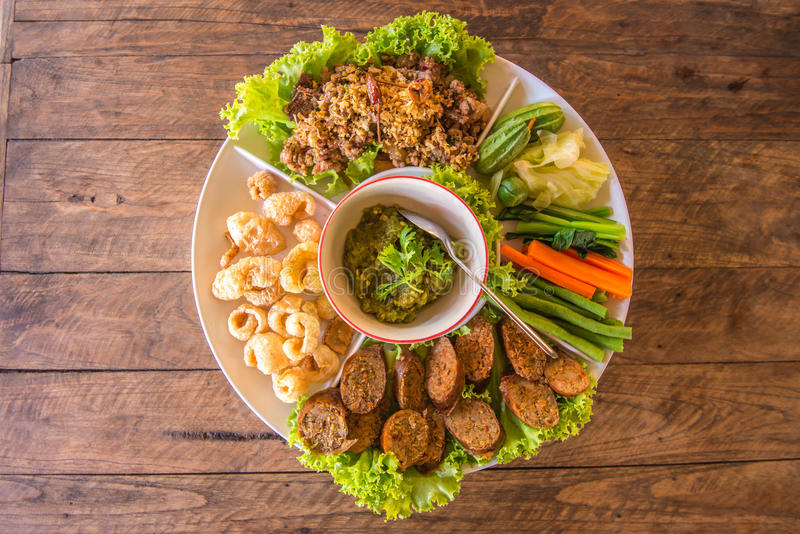 Traditional Appetiser. Famous Northern of Thailand's Appetiser stock image