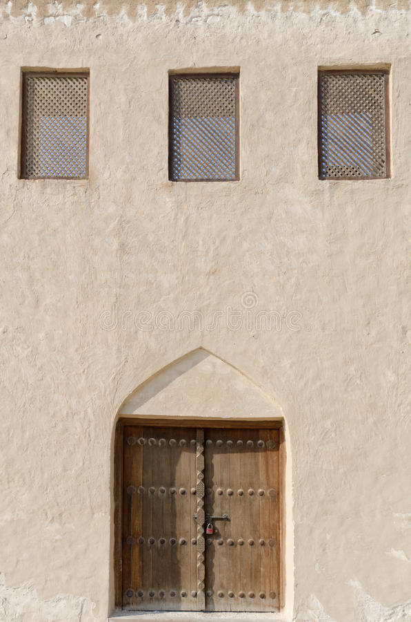 Traditional arabian exterior stock photography
