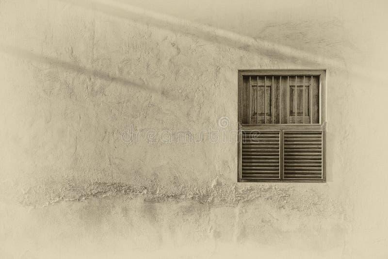 Traditional Arabian window in sunlight royalty free stock photos