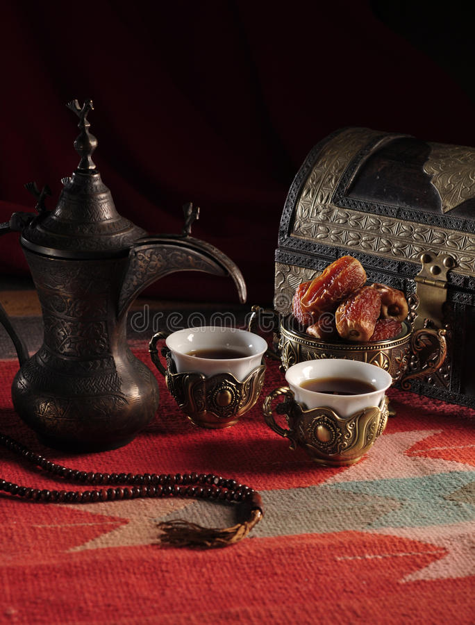 Download Traditional Arabic coffee stock image. Image of month - 20567431