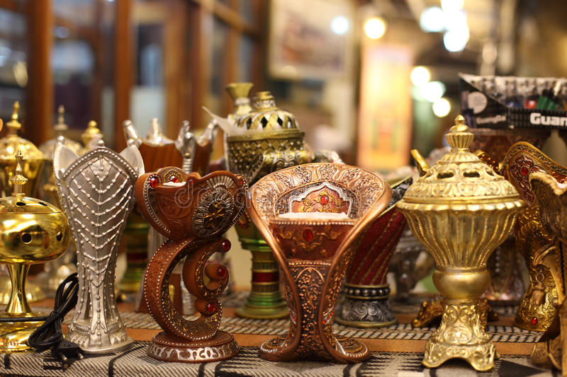 Traditional Arabic Incense Burner Stock Photography