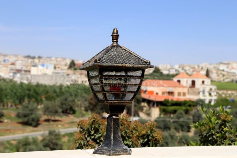 Traditional arabic lamp, Jordan, Middle East stock photo