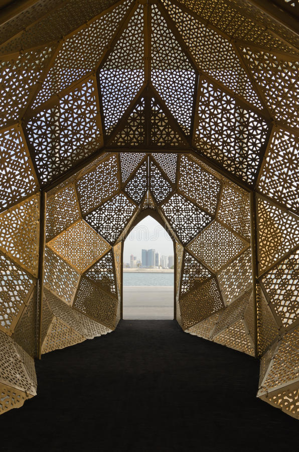 Modern arabic motives stock photography
