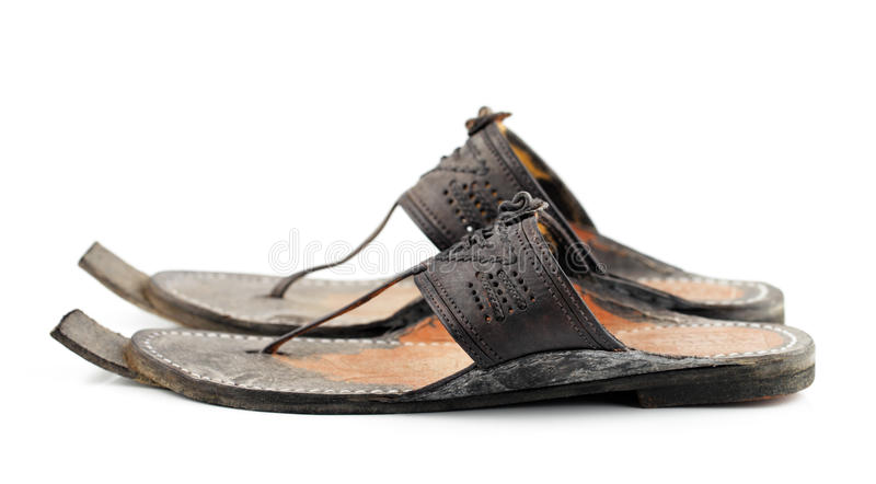 Traditional Arabic sandals stock image