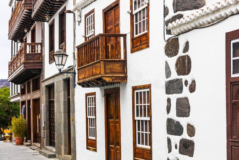 Traditional architecture of Los Llanos de Aridane village. royalty free stock image