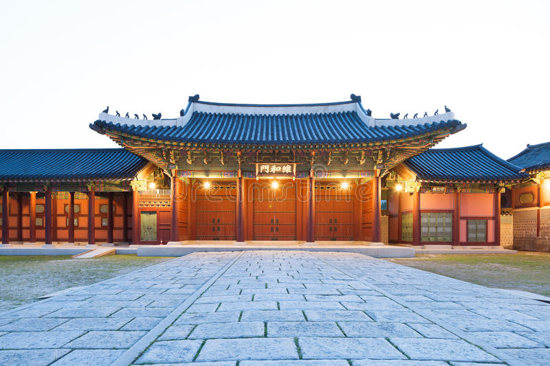 Download Traditional Architecture Of East Asia Gyeongbokgung Palace In Seoul South Korea Stock