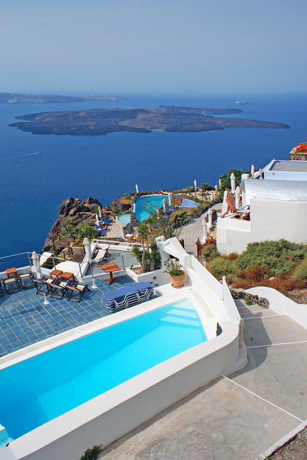 Download Traditional Architecture Of Oia Village On Santorini Island Stock Image - Image: 28906379