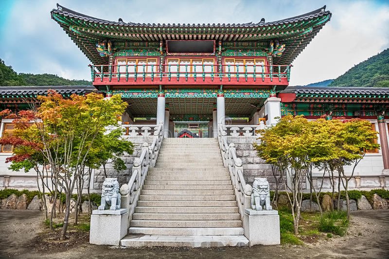 Download Traditional Architecture Old Building Palace In Korea Stock Photo