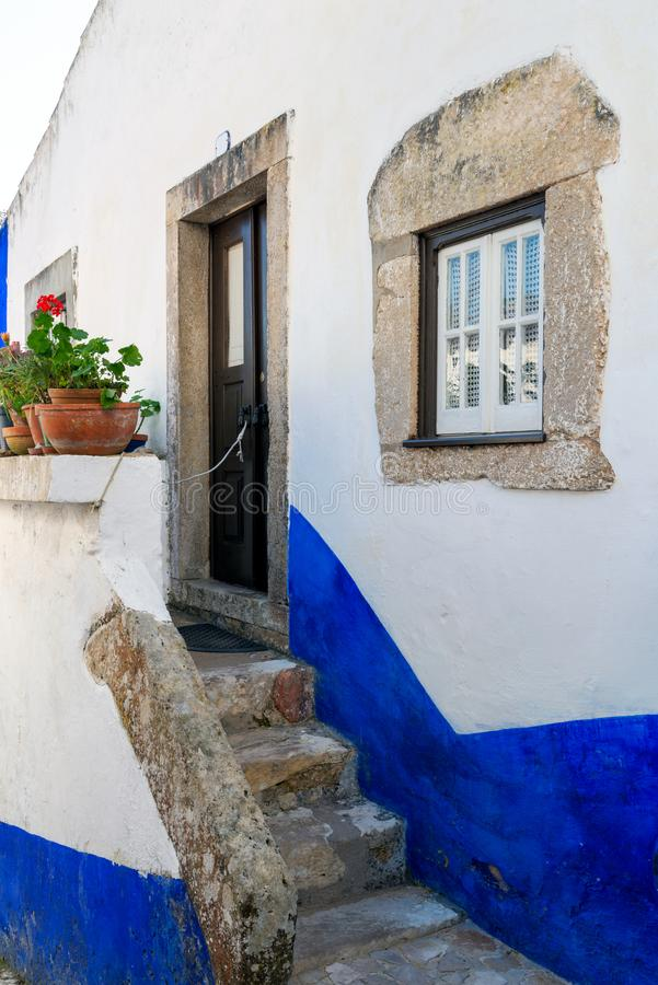 Traditional architecture of old european town. Narrow street of the ancient town. Scenic old town with medieval architecture. royalty free stock image
