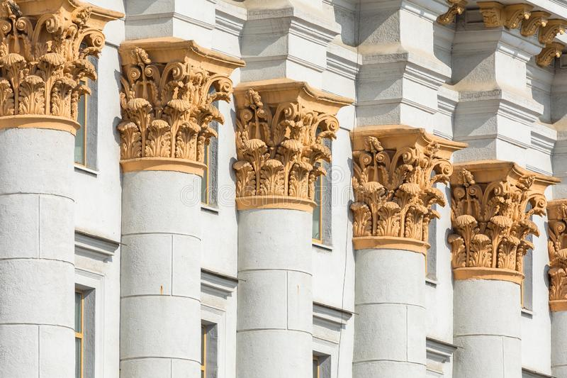 Traditional architecture in old part of Minsk, Belarus. stock photos