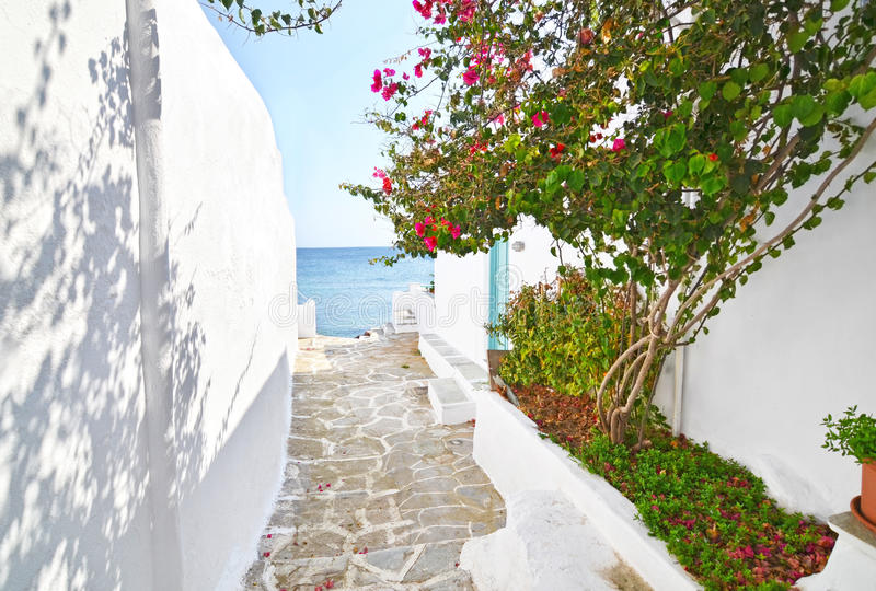 Traditional architecture of Sifnos island Cyclades Greece stock photos