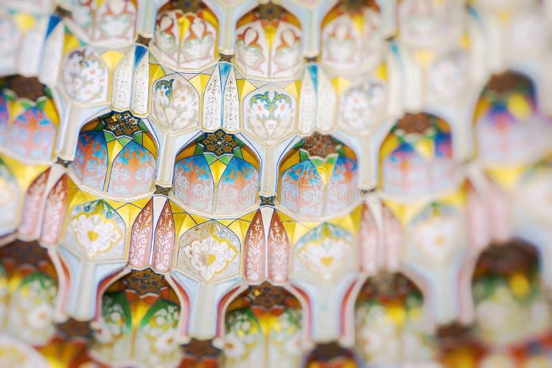 Traditional architecture in Uzbekistan. Uzbekistan ethnic ornament. royalty free stock photos
