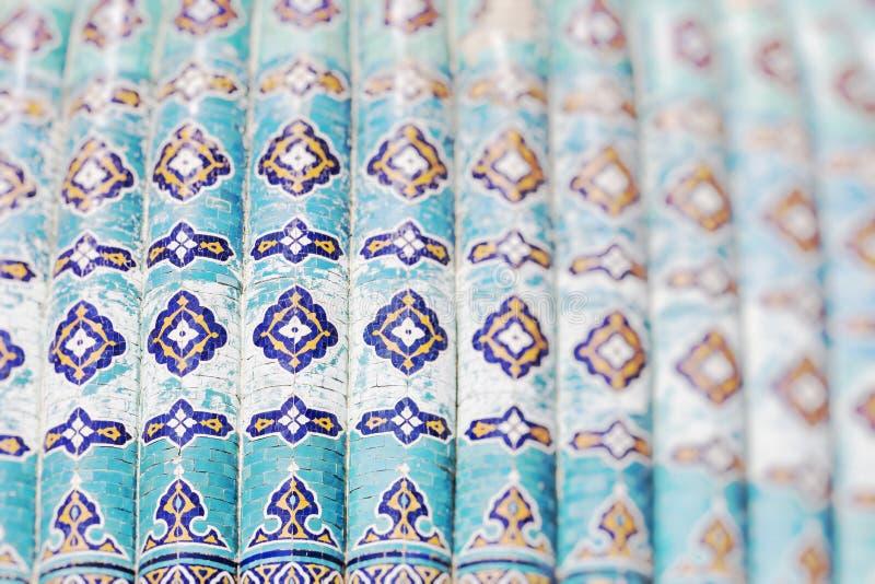 Traditional architecture in Uzbekistan. Uzbekistan ethnic ornament. stock photography
