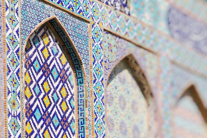 Traditional architecture in Uzbekistan. Uzbekistan ethnic ornament. royalty free stock photography