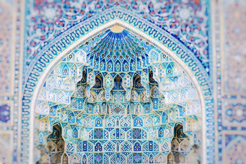 Traditional architecture in Uzbekistan. Uzbekistan ethnic ornament. stock photo