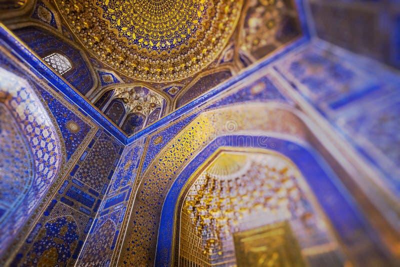 Traditional architecture in Uzbekistan. Uzbekistan ethnic ornament. royalty free stock image
