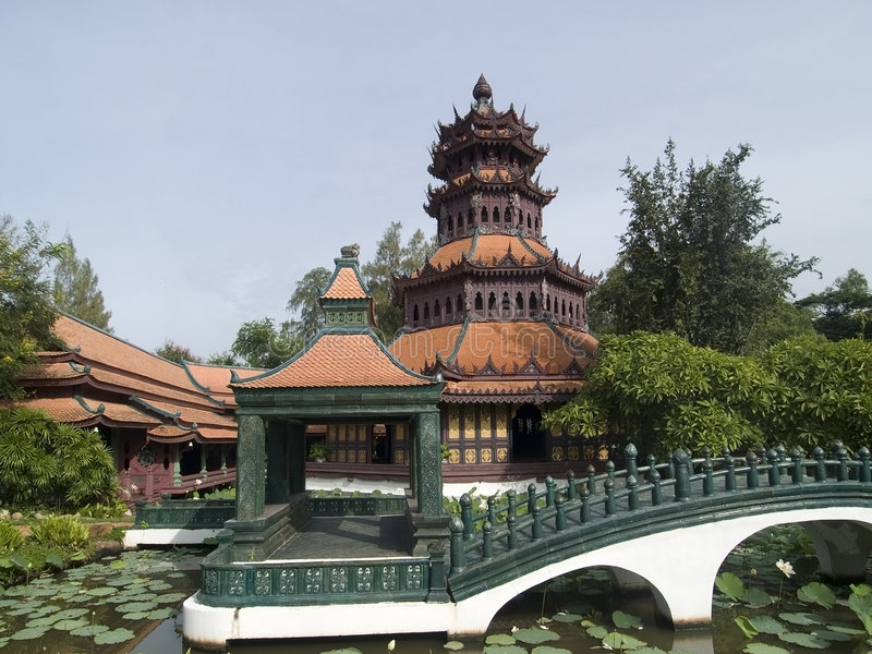 Traditional Asian Architecture stock image