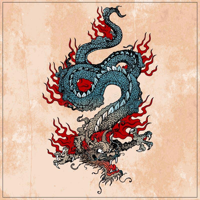 Traditional Asian Dragon. royalty free illustration