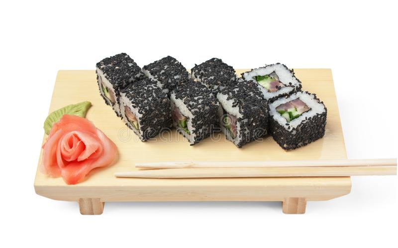 Traditional Asian food sushi stock photos