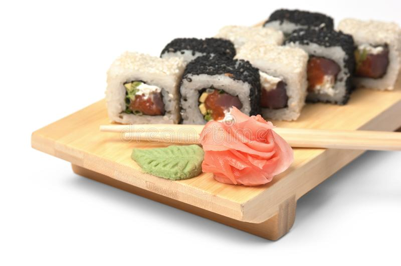 Traditional Asian food sushi stock image