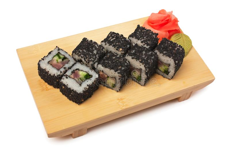 Traditional Asian food sushi stock images