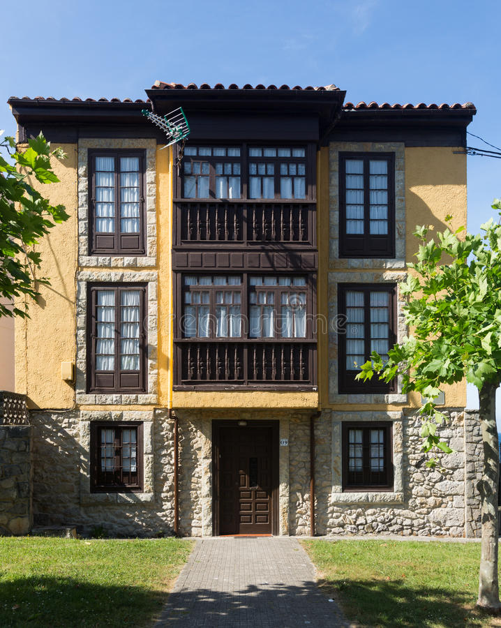 Traditional asturian dwelling house royalty free stock images