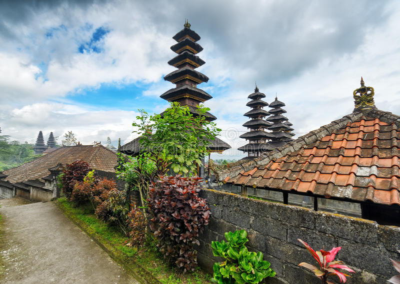 Traditional Balinese Architecture. The Pura Besakih Temple Stock Images